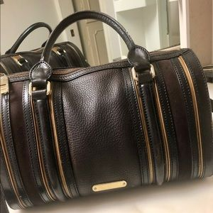Burberry Alchester Bowler Leather Bag